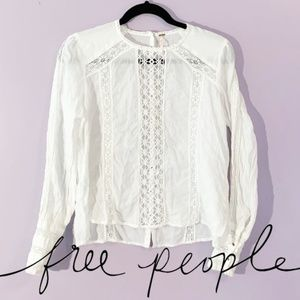 Free People | Crochet and Lace Blouse